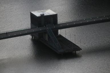Lido im Hafen (vom Rheinturm aus aufgenommen)