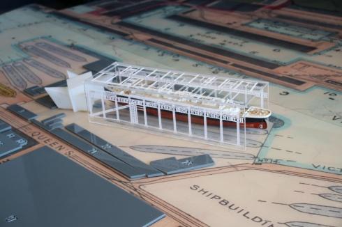 Modell im Titanic Museum Belfast
