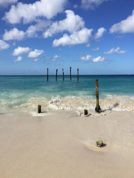zerfallenes Pier Aruba